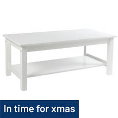 Argos Home Osaka 1 Shelf Coffee Table - White