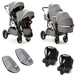 more details on Baby Elegance Cupla Duo Grey Twin Travel System.