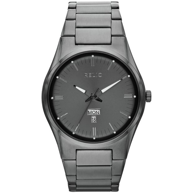 buy relic watches at argos co uk your online shop for jewellery more details on relic men s zr12124 sheldon gunmetal bracelet watch