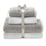 more details on HOME Aztec Contrast 4 Piece Towel Bale.