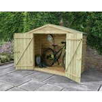more details on Forest Pressure Treated Wooden Bike Store - 7 x 3ft.