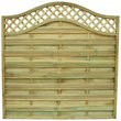 more details on Forest 1.8m Prague Fence Panel - Pack of 4.