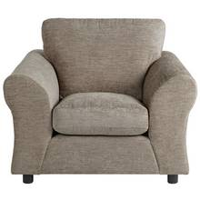 HOME New Clara Fabric Armchair - Mink