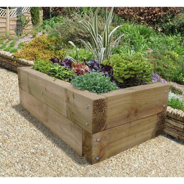 buy forest sleeper raised bed planter garden pots and. Black Bedroom Furniture Sets. Home Design Ideas