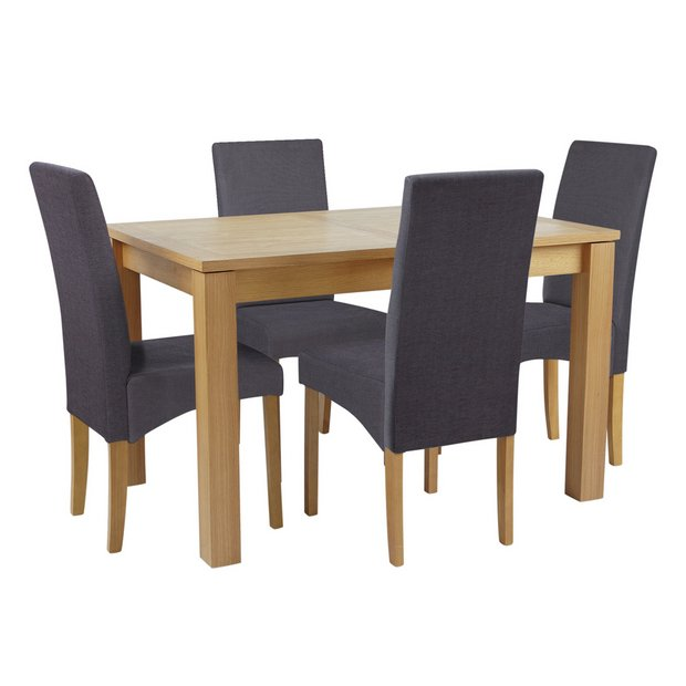 Kitchen Table And Chairs At Argos: Buy Collection Swanbourne Oak Veneer Table & 4 Chairs