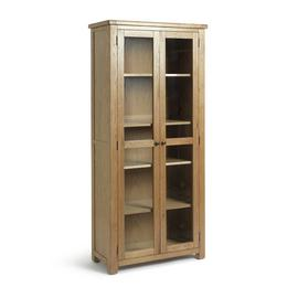 Argos Home Kent 2 Glass Door Oak Veneer Display Cabinet