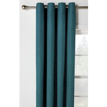 Heart of House Hudson Eyelet Curtains - 168x229cm - Teal