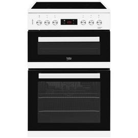 Beko KDC653W 60cm Double Oven Electric Cooker - White Best Price, Cheapest Prices