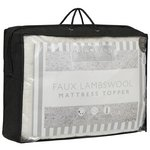 more details on Downland Faux Lambswool Mattress Topper - Double.