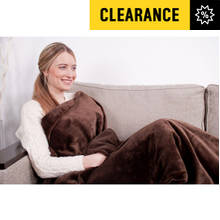 Relaxwell by Dreamland Intelliheat Lap Blanket - Chocolate