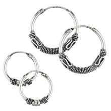Revere Sterling Silver Bali Set of 2 Hoop Earrings