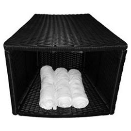 Canadian Spa Company Rattan Storage Table Bar Stool