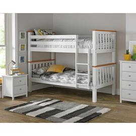 Argos Home White & Pine Heavy Duty Bunk Bed Frame