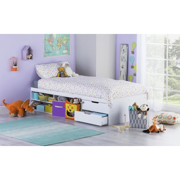 Buy home callum cabin bed desk ashley mattress white at your online shop for Buy home furniture online uk