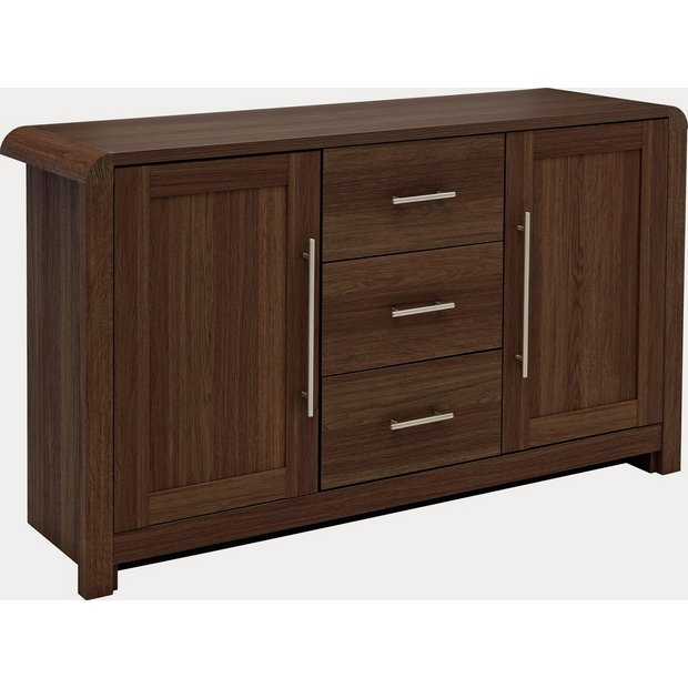 Buy heart of house elford 2 door 3 drw sideboard walnut Walnut effect living room furniture