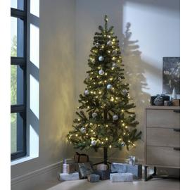 Argos Home 6ft Pre-Lit Half Christmas Tree - Green