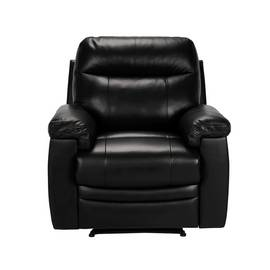 Argos Home Paolo Riser Recliner Leather Chair - Black