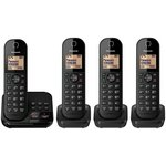 more details on Panasonic Cordless Telephone with Answer Machine - Quad.
