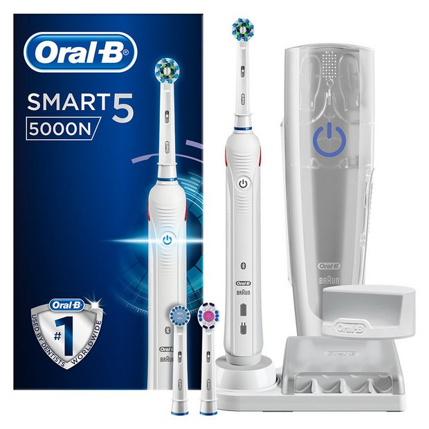 Buy Oral B Smart 5 5000 Electric Toothbrush Deep Clean | Electric toothbrushes | Argos