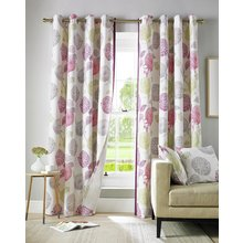 Ashley Wilde Avril Lined Eyelet Curtains - 165x229cm - Berry