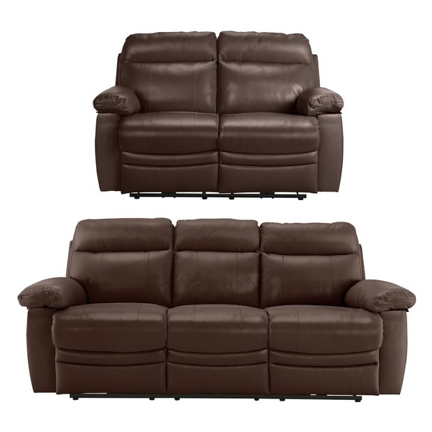 buy collection new paolo 3 seat 2 seat power recline sofa choc at your online. Black Bedroom Furniture Sets. Home Design Ideas