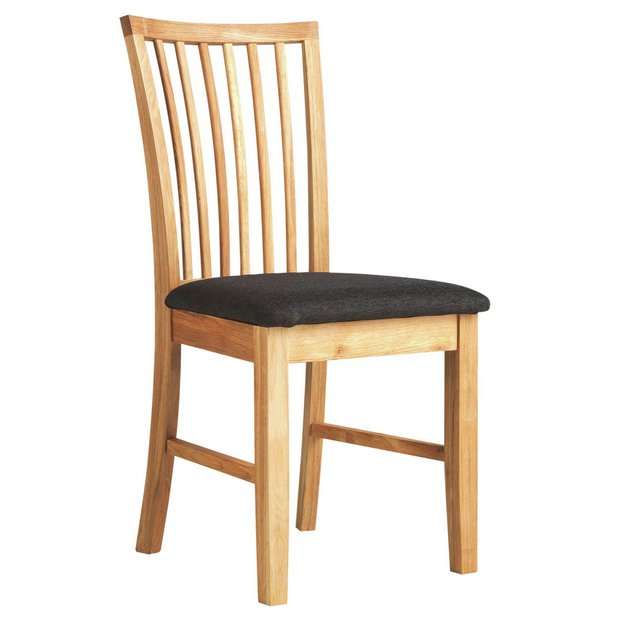 Buy Collection Hampshire Pair Of Solid Oak Dining Chairs At Your Online Shop For