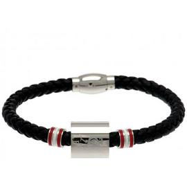 Stainless Steel and Leather Liverpool Bracelet.