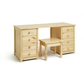 Argos Home Scandinavia 8 Drw Dressing Table and Stool - Pine