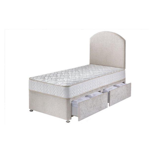 Buy airsprung taunton 1200 pocket sprung single 2 drawer for Divan beds argos