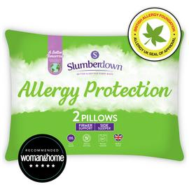 Slumberdown Allergy Protection Medium/ Firm Pillow - 2 Pack