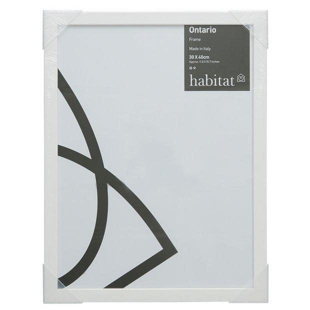 Buy Habitat Ontario 30x40cm Frame White At Argos Co Uk