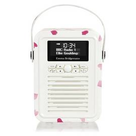 VQ Emma Bridgewater Retro Mini DAB FM Radio - Pink Hearts