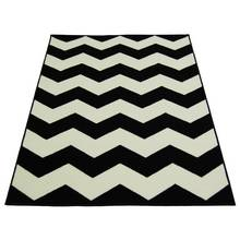 Chevron Rug - 80x150cm - Black and White