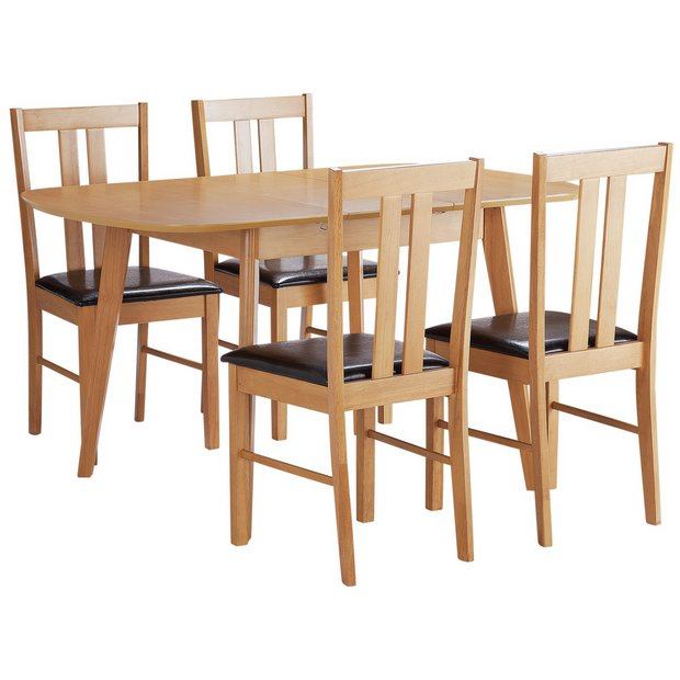 Buy Dining Room Furniture Online: Buy HOME Witley Extendable Solid Wood Table & 4 Chairs