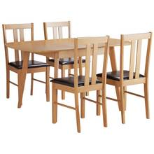 HOME Witley Extendable Solid Wood Table 4 Chairs