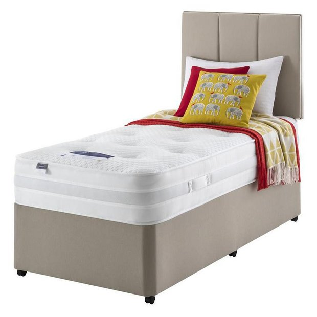 buy silentnight walton 1200 luxury single divan divan. Black Bedroom Furniture Sets. Home Design Ideas