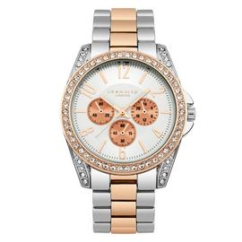Identity London Ladies Two Tone Rose Stone Set Watch
