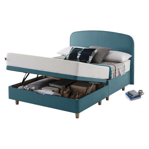 buy studio by silentnight curved double ottoman bed frame. Black Bedroom Furniture Sets. Home Design Ideas