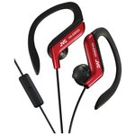 more details on JVC HA-EBR25 Sports Headphones with Mic and Remote - Red.