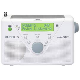 Roberts Solar DAB/FM Solar Powered Radio - White.