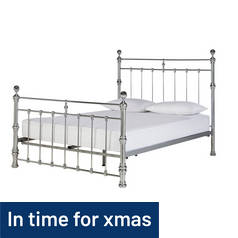 Argos Home Conan Double Bed Frame - Chrome