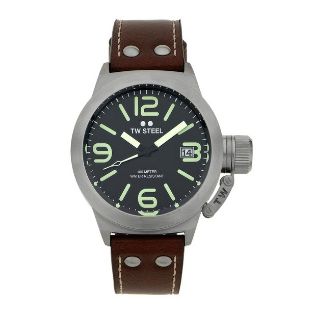 143467aa8 buy tw steel mens canteen twcs21 brushed strap watch uk your online shop  for watche