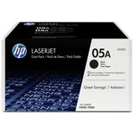 more details on HP 05A 2-pack Black LaserJet Toner Cartridges (CE505D)