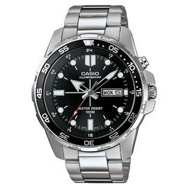 Casio Men's Stainless Steel Rotating Bezel Backlight Watch