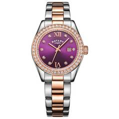 Rotary Ladies' Two Tone Rose Gold Plated Bracelet Watch