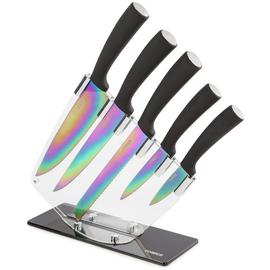 Tower 5 Piece Knife Set with Acrylic Stand.