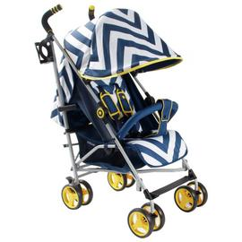 My Babiie MB02 Chevron Stroller - Blue