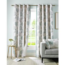 Avril Lined Eyelet Curtains - 165x229cm - Duck Egg