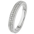 more details on 9ct White Gold 0.25ct tw 2 Row Diamond Wedding Ring.
