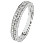 more details on 9ct White Gold 0.25ct tw 2 Row Diamond Wedding Ring.